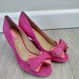 Isaac Mizrahi Pink Clear Pumps heels size 8